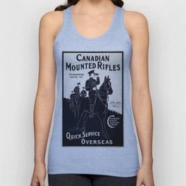 Vintage poster - Canadian Mounted Rifles Unisex Tank Top