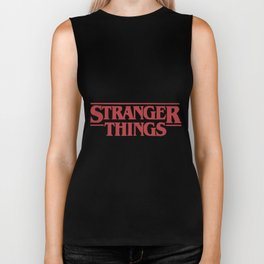 Netflix Strang-er Things Logo son Biker Tank