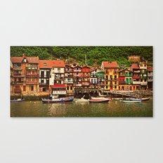 Little Fishing Village Canvas Print