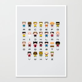 Pixel Star Trek Alphabet Canvas Print