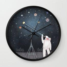 Astronaut Astrology Wall Clock