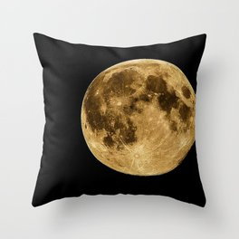 Telescopic Photograph of Earth's Moon Throw Pillow