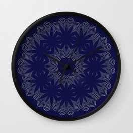 Blue Lace Wall Clock