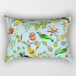 Colourful Birds Chintz Multicolour Rectangular Pillow