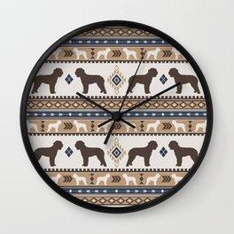 Boho dogs | Lagotto romagnolo tan Wall Clock