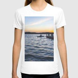 Man on Kayak at Sunset T-shirt