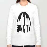 sin city Long Sleeve T-shirts featuring SIN CITY  by Robleedesigns