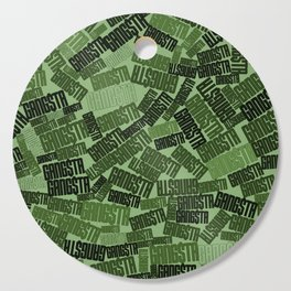 GANGSTA jungle camo / Green camouflage pattern with GANGSTA slogan Cutting Board