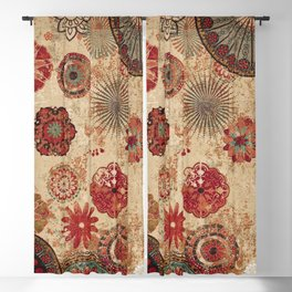 Bohemian Floral Moroccan Style Design Blackout Curtain