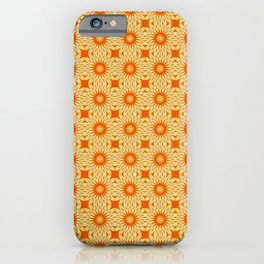 Simply Citrus Lemon Slices Floral Tiled Pattern iPhone Case
