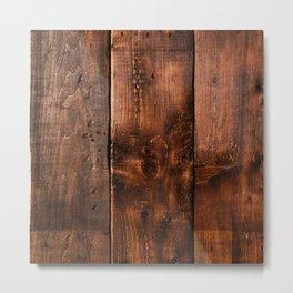 Natural Wood Boards Metal Print