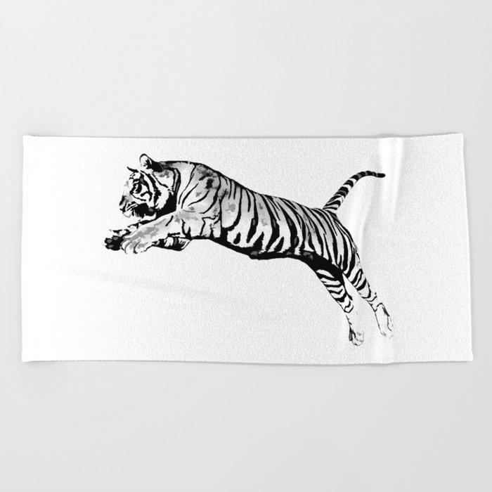 Flying Tiger Beach Towel