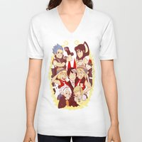 soul eater V-neck T-shirts featuring Soul Eater Meisters and Weapons by renaevsart