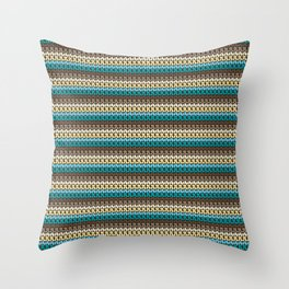Faux single crochet stitch pattern Throw Pillow