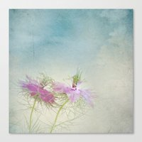 twins Canvas Prints featuring Twins by aRTsKRATCHES
