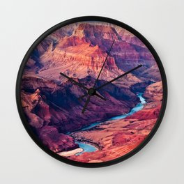 View of the Colorado River and Grand Canyon Wall Clock