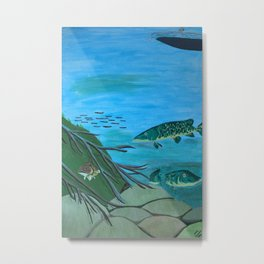 Lake - Middle Panel in Tryptic Metal Print