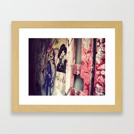 Graffitied Gateway Framed Art Print