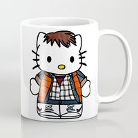 marty mcfly Mugs featuring Hello Marty by Jedi Candice