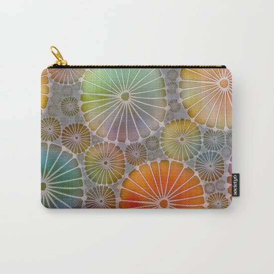 Abstract Floral Circles 4 Carry-All Pouch