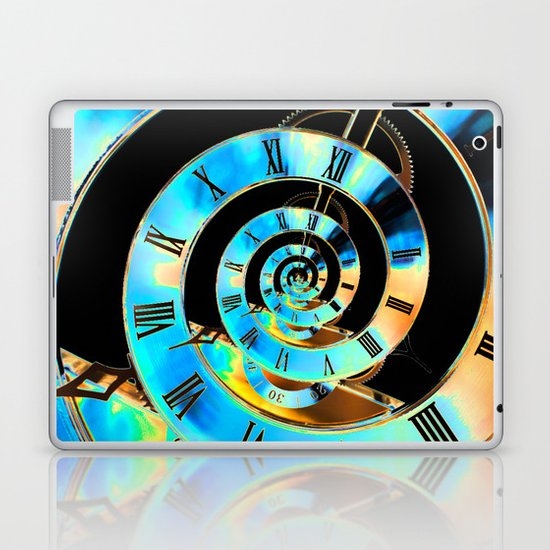 Infinite Time Blue Laptop & iPad Skin