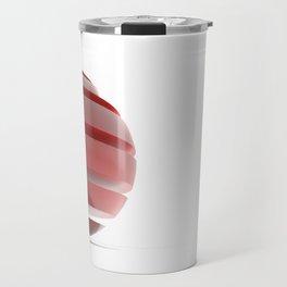 Sliced Red Sphere Travel Mug