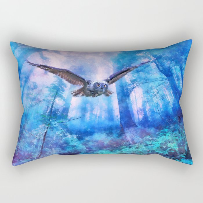 Owl flight Rectangular Pillow