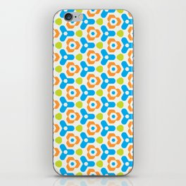 Retro Geometric Kaleidoscopic Seamless Pattern iPhone Skin