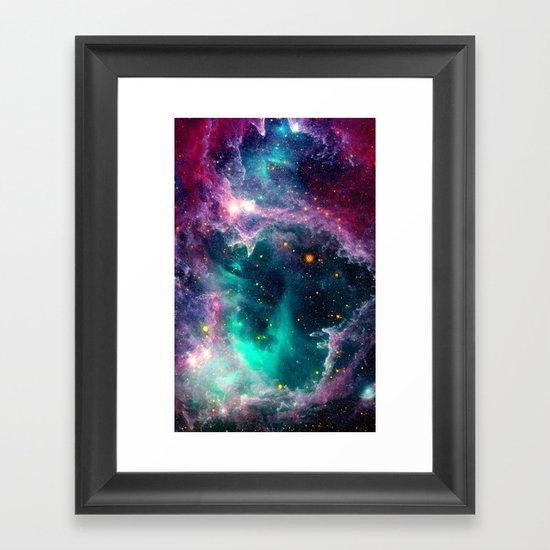 Pillars of Star Formation Framed Art Print