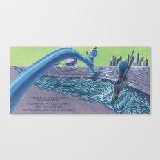 POEM OF FLOOD Canvas Print