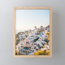 Santorini Sunset Framed Mini Art Print