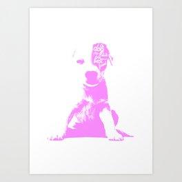 A mans best friend Art Print