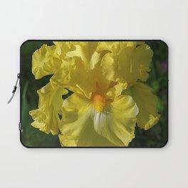 Golden Iris flower - 'Power of One' Laptop Sleeve