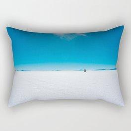 In the Distance, Salar de Uyuni, Bolivia Salt Flats Rectangular Pillow