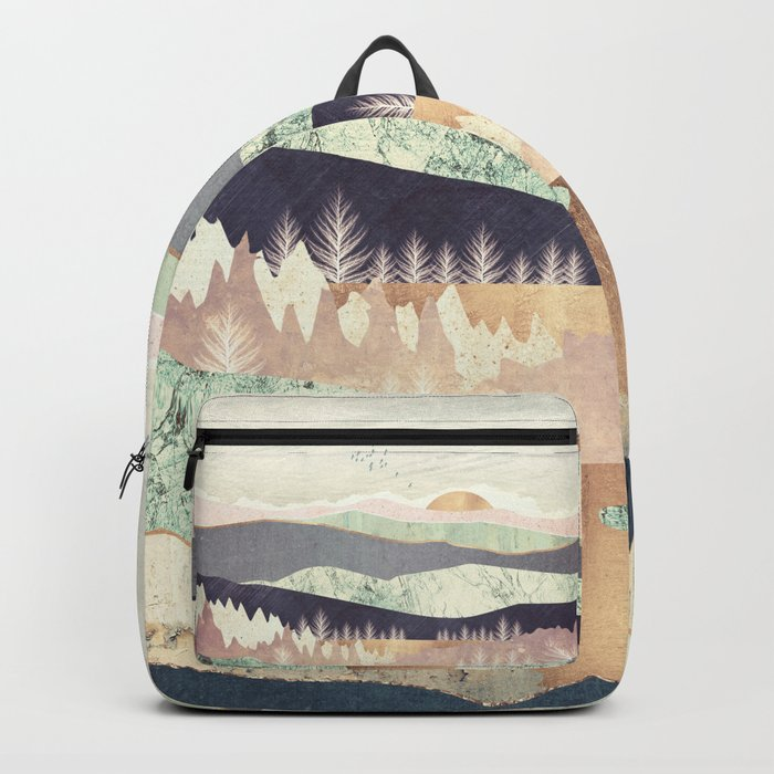 Golden Spring Reflection Rucksack