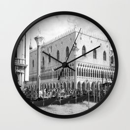 View of Venice St. Mark's Square Wall Clock