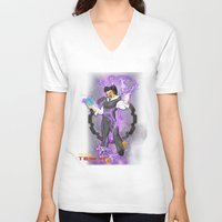 dbz V-neck T-shirts featuring DBZ Tesla by Hushy