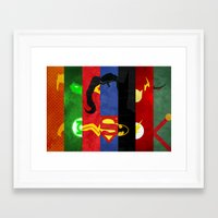 league Framed Art Prints featuring League by theLinC