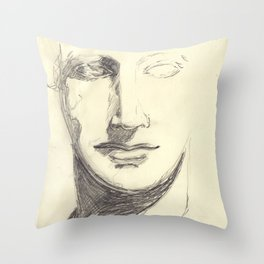 Head of a Goddess - sketch Throw Pillow