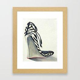 Zebra Wedges Framed Art Print