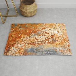 Rusty Zinc grunge background Rug