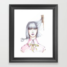 Haircut Framed Art Print