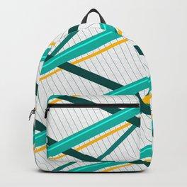 Deco Stripes Turqoise Backpack
