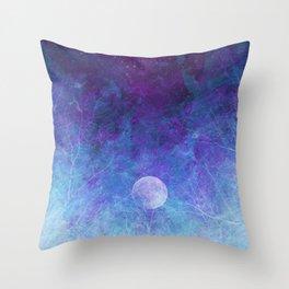 Violet Galaxy: Lunar Eclipse Throw Pillow