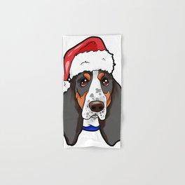 Basset Hound Dog Christmas Hat Hand & Bath Towel