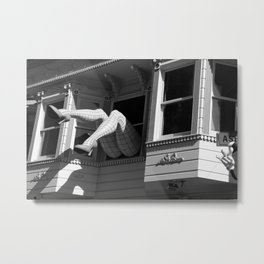 Amazing Legs Out Of A Window Metal Print