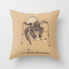Varanus Commodeensis Throw Pillow