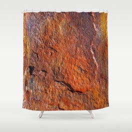 Fire Stone rustic decor Shower Curtain