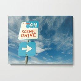 49 mile scenic drive Metal Print