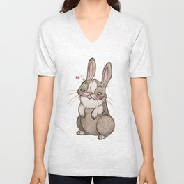Hearty Bunny Unisex V-Neck